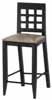 Dollhouse Miniature Bar Chair, Black
