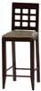 Dollhouse Miniature Bar Chair, Walnut