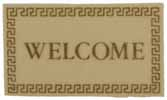 Dollhouse Miniature Welcome Mat, Ivory