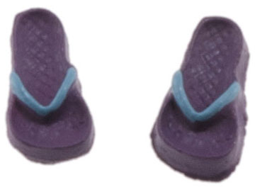 Children's Flip Flops, Lilac and Light Blue