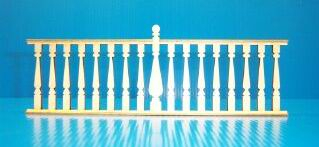 Dollhouse Miniature Painted Lady Rail, 9-3/8 Inch Long