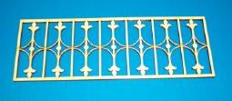 Dollhouse Miniature Porch Rail, 7-1/8 W X 2-1/2 H