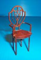 Dollhouse Miniature Kit: Hepplewhite Arm Chair, Litch