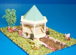 Dollhouse Miniature Gazebo Kit