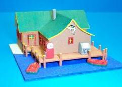 Dollhouse Miniature Fishing Lodge Kit