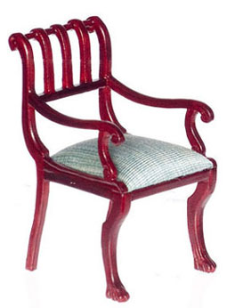 Dollhouse Miniature British Colonial Armchair