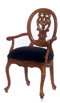 Dollhouse  Petite Paulinese Armchair, Walnut
