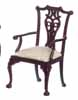 Dollhouse Miniature Le Francesco Armchair, Mahogany