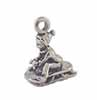 Dollhouse Miniature Child On Sled Sterling Silver