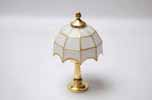 Dollhouse Miniature Leaded Tiffany Lamp