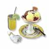 Dollhouse Miniature Reutter's Porcelain Fine Dollhouse Miniature Ice Cream Sundae On Plate