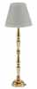 Dollhouse Miniature Led Brass Floor Lamp, Gold