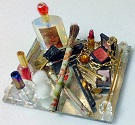 Dollhouse Miniature Cosmetic Tray