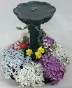 Dollhouse Miniature Garden Bird Bath