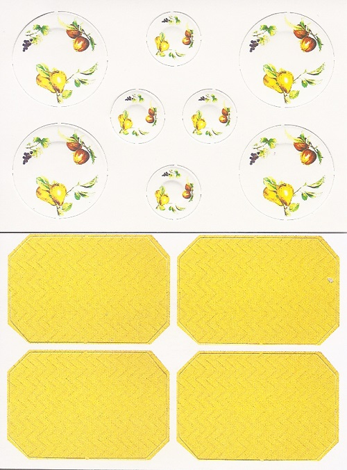Dollhouse Miniature Paper Plates and Placemats