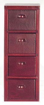 Dollhouse Miniature4-Drawer File  Cabinet