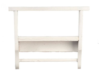 Dollhouse Miniature Kitchen Wall Shelf, White