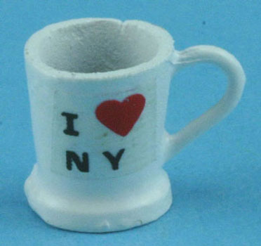 Dollhouse Miniature Coffee Mug-I Love NY