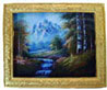 Dollhouse Miniature MOUNTAIN STREAM/GOLD FRM.
