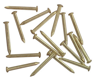 "Dollhouse Miniature 1/4"" Brass Brads, 100  Pk"