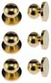 Dollhouse Miniature Door Knob, Brass, 6 Pk