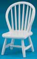 Dollhouse Miniature Windsor Side Chair, White