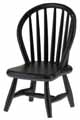 Dollhouse Miniature Windsor Side Chair, Black