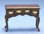 Dollhouse Miniature Desk, Walnut