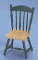 Side Chair, Oak & Hunter Green