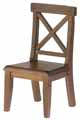 Dollhouse Miniature Cross Buck Chair, Walnut