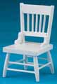 Dollhouse Miniature Chair, White
