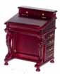 Dollhouse Miniature Davenport Desk, Mahogany