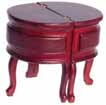 Dollhouse Miniature Chadwick Desk, Red, Mahogany