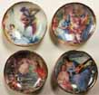 Dollhouse Miniature Small Romance Plates, 4pc, Half Scale