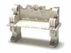 Dollhouse Miniature Victorian Bench, Gray/2Pc