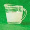 Dollhouse Miniature Measuring Cup, Filled with Milk