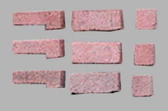 Dollhouse Miniature Red Blend Brick Corner, 125 Pcs