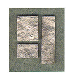 Dollhouse Miniature Cut Stone Veneer Gray 72Sq