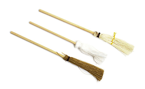 Dollhouse Miniature Mop and Broom 3 Pc Set