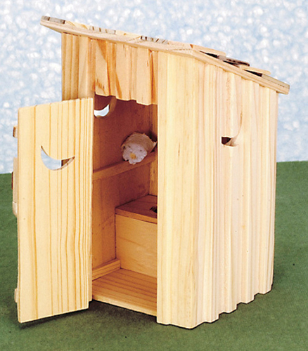 Dollhouse Miniature Out House
