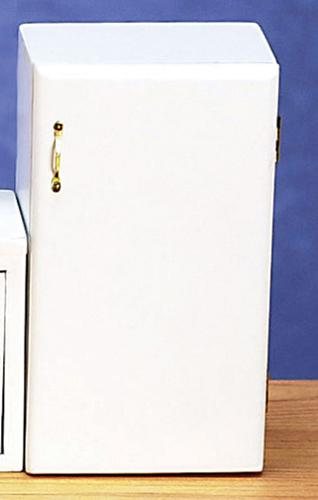 Dollhouse Miniature Refrigerator, White