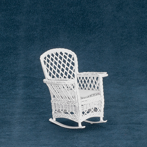 Dollhouse Miniature Magazine Rocker, White