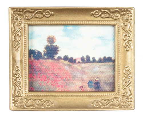 Dollhouse Miniature Monet-Hillside In Frame