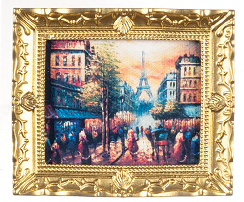 Dollhouse Miniature Paris Street In Frame