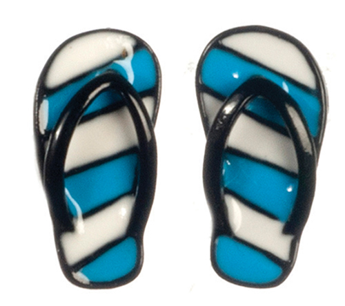 Dollhouse Miniature Blue Sandals