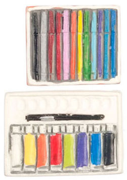 Dollhouse Miniature Colored Pens Set
