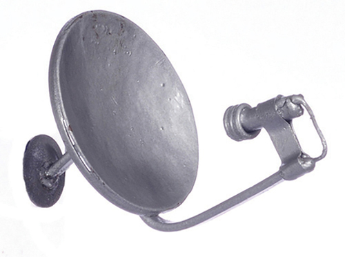 Dollhouse Miniature Small Satellite Dish, Silver