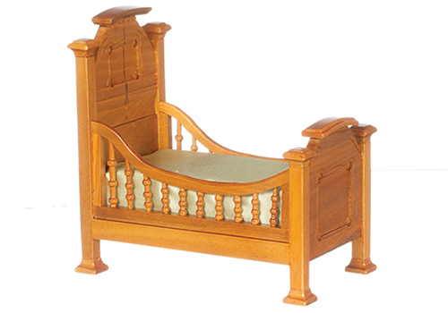 Dollhouse Miniature Renaissance Youth Bed, Walnut