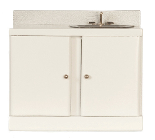 Dollhouse Kitchen Sink White Azm9031a Just Miniature Scale