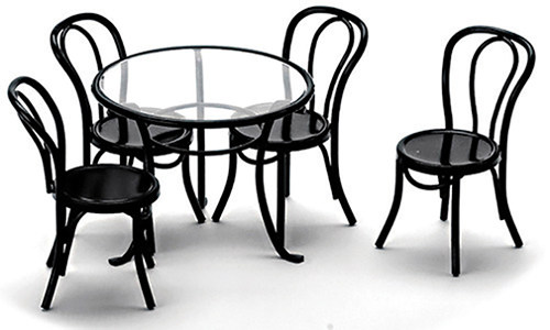Fantastic Dollhouse Patio Table With 4 Chairs Black Azs8507 Just Download Free Architecture Designs Scobabritishbridgeorg